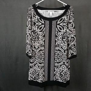 3 for $12- Large white house black market Dress